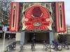 Comercial work by @shepardfaireyobey in #Berlin Love the bikes in front #streetart