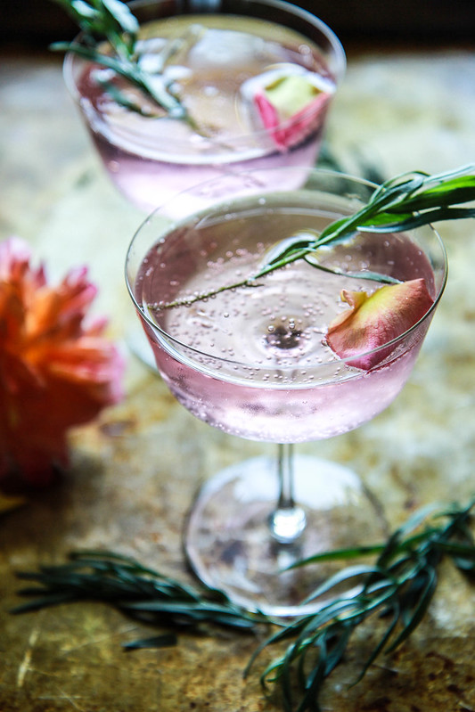 Rose and Tarragon Gin Lemonade