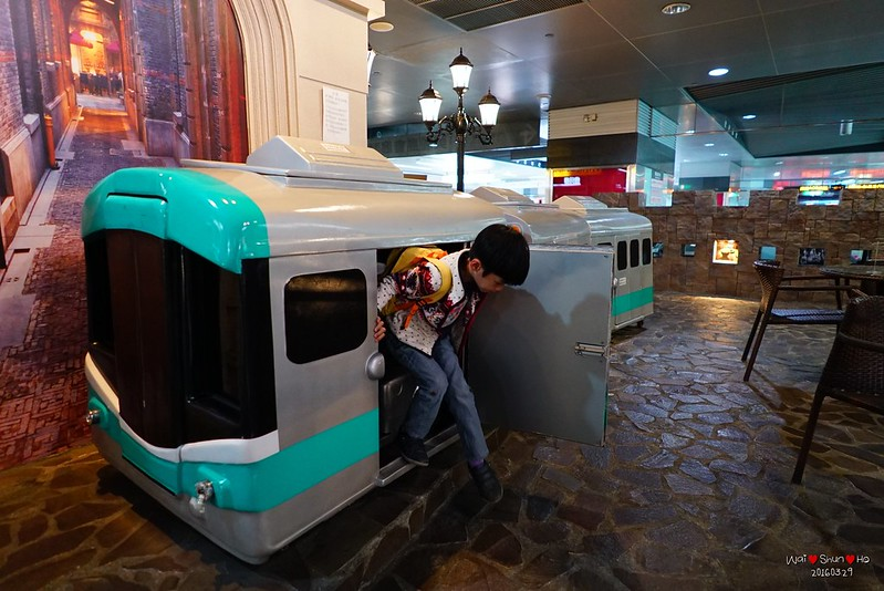 Small train in train station