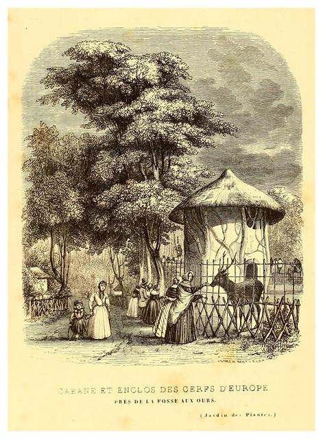 011-Recinto de los ciervos europeos-Le Jardin des plantes description et murs des mammifères..1842-Pierre Boitard