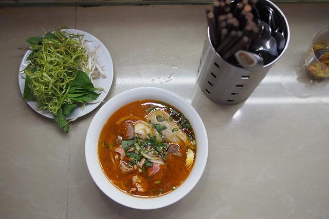 Bún bò Huế, Benh Than Market, Ho Chi Minh City (Saigon)