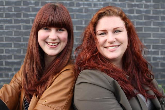 Redhead on the left: Tessa van Harmelen (21) - redhead on the right: Marleen Stoker (24)