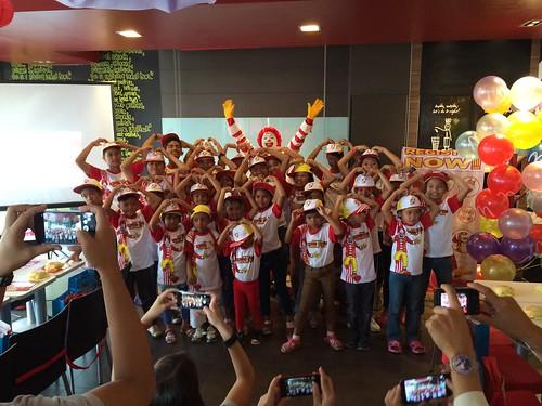 McDonald's Kiddie Workshop Crew 2016 graduates