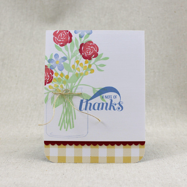 Note Of Thanks Bouquet Card