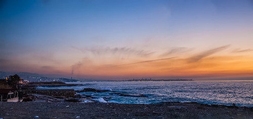 sunset sea sky lebanon beach colors clouds colours pano panoramic beirut hdr harissa jounieh infiniteexposure