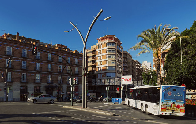 streetlights in Murcia, Spain (2016)