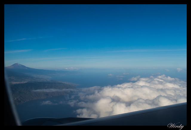 Tenerife la Orotava mirador Humboldt mirador Mataznos - Pico Teide desde el avión
