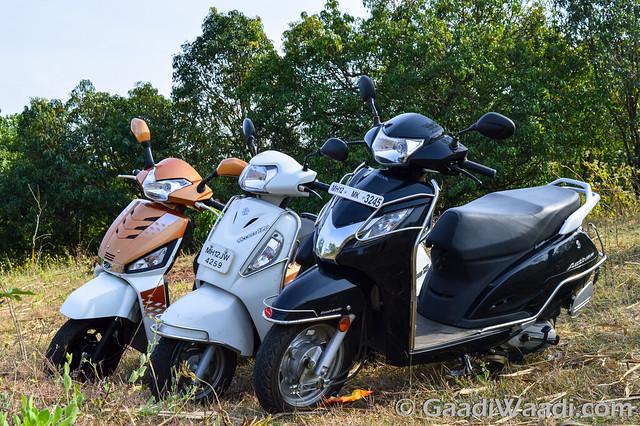 Mahindra Gusto125 vs Activa125 vs Suzuki access 125 -9