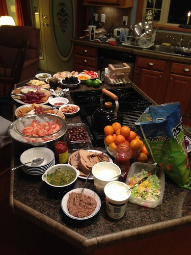 Snacking for dinner: New Year's Eve feast 2015