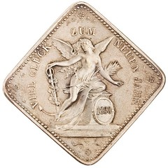 1890 New Year medal reverse