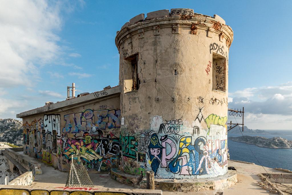 Batterie Sémaphore de Croisette Callelongue (Marseille, 13) 24068254175_13e2e48e73_b
