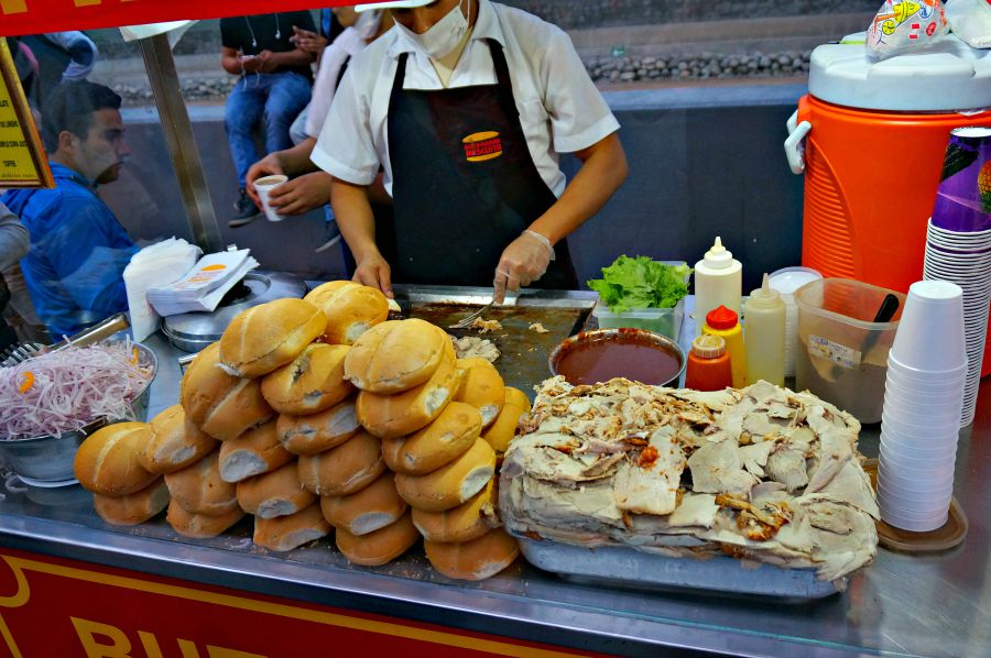 Pork Butifarra Sandwich Vendor