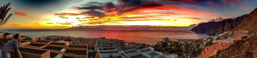 sunset panorama ngc tenerife