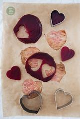 Vegan Valentine's day salad with roasted beet…