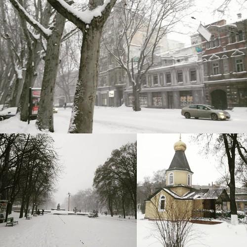 White city #snow #odessa_ukraine #mycity