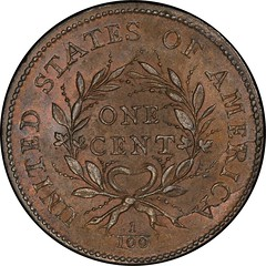 1793 Flowing Hair Cent. Sheldon-9 reverse