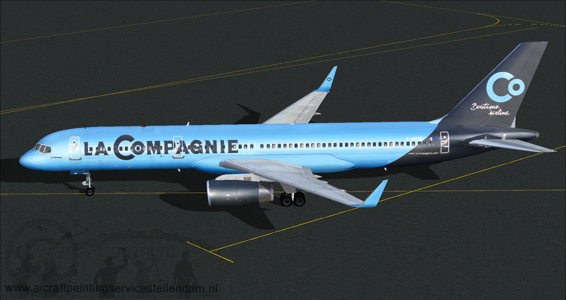 ProskyB757-256wLeCompagnieBotiqueAirline_F-HTAG