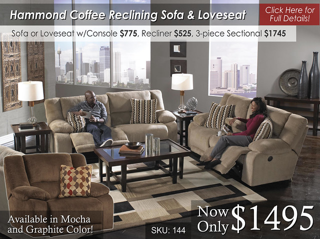 Hammond Coffee Reclining Set