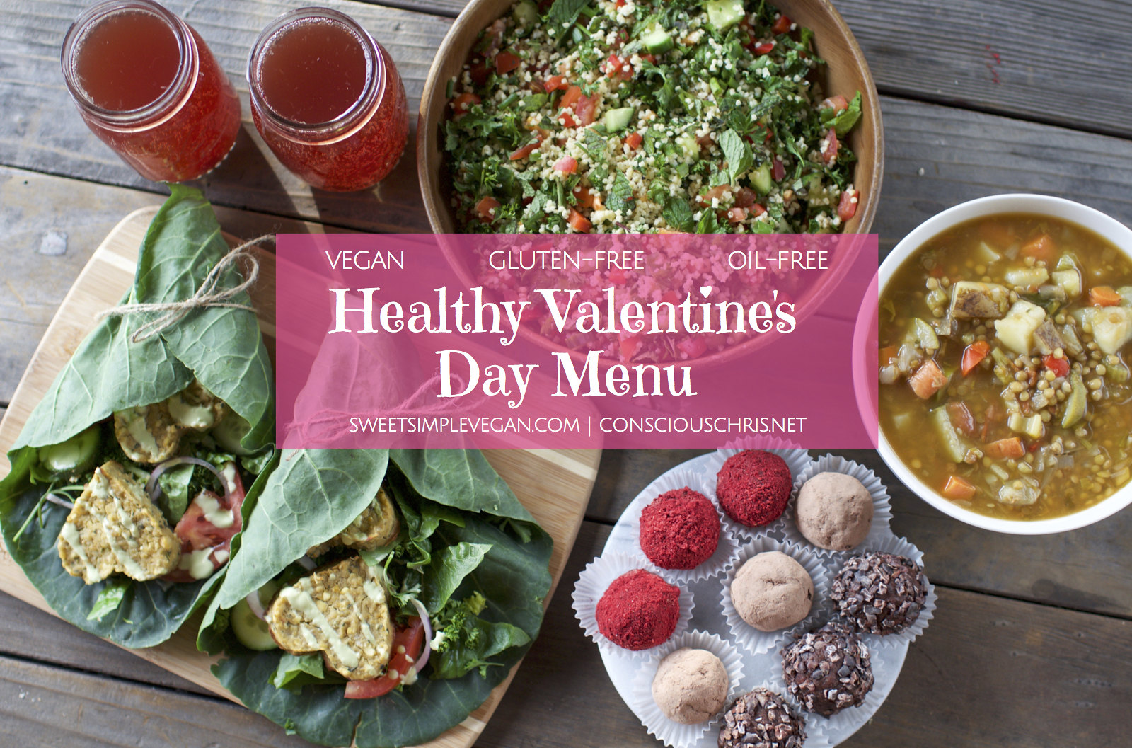 Vegan Valentine's Day Menu {oil-free} sweetsimplevegan.com