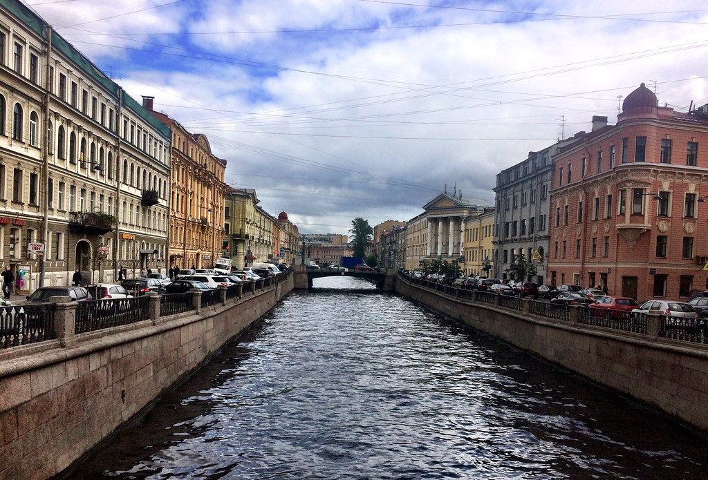 The boat tour around St. Petersburg