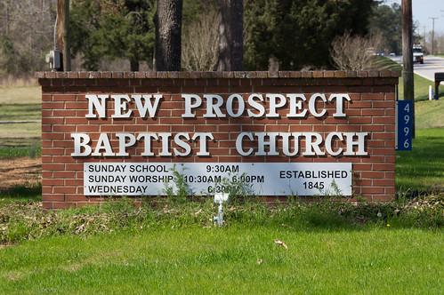 NEw Prospect Baptist Church sign