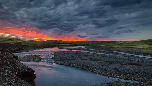 sunset clouds canon landscape is iceland south hdr