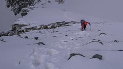 Piotr pokonuje ostatnie metry do szczytu Pizzo Malenco 3488m