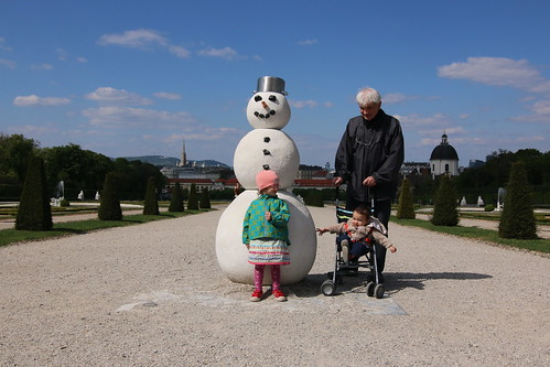 Snowman at the Belvedere