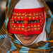 Iran, Hormozgan, Minab, a bandari woman wearing a traditional mask called the burqa at panjshambe bazar thursday market by Eric Lafforgue