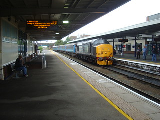 Direct Rail Services class 37 locomotive and mark 2 coaches