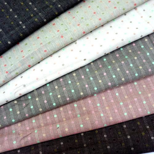 CA1600007 彩色小圓點先染布 水玉 滾邊配布 手工藝DIy拼布布料 3尺8(日本)