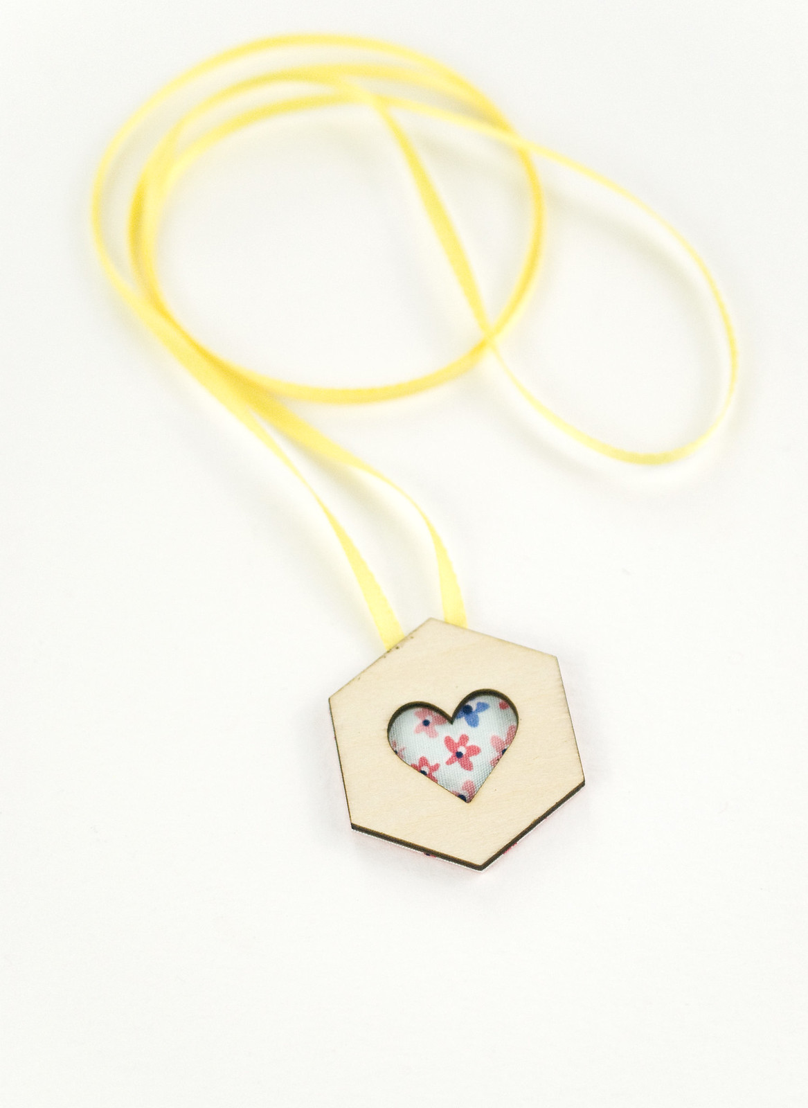 Hexagon Heart Necklace
