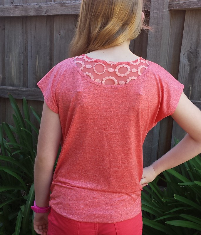 Love Notions Lotus Blossom Blouse in knit from Darn Cheap Fabrics
