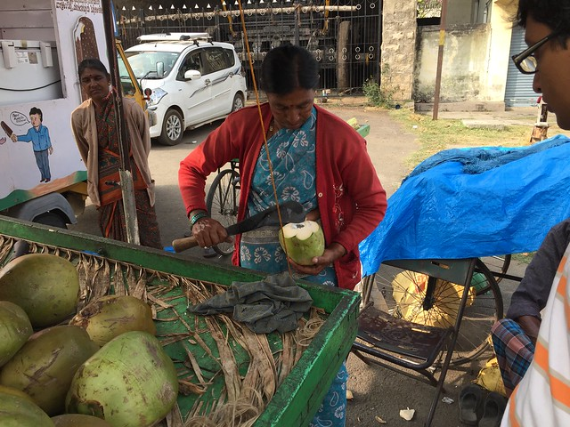 Street coconut stand