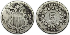 1869 contemporary counterfeit Shield Nickel