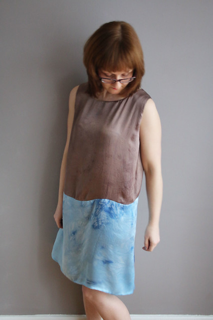 Naturally Dyed Silk Dress for #1year1outfit