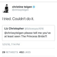 I'm certain @chrissyteigen and I would be pals because, you guys, THIS MOVIE... Sigh.