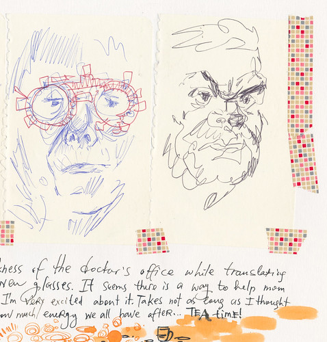 Sketchbook #94: Everyday Life: Drawing in the Darkness of Ophthalmologist's office