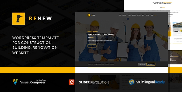 Renew v1.2.3 – Building, Renovation & Construction Theme