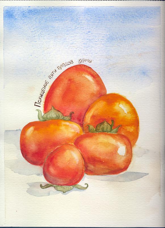Похищение пяти плодов хурмы - обложка