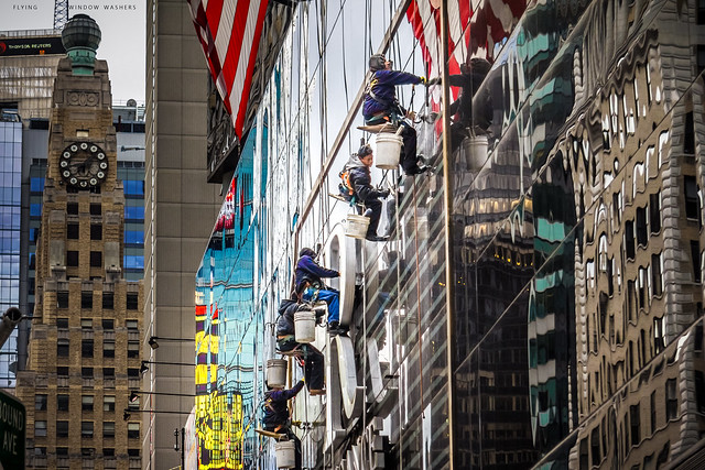 Flying Window Washers