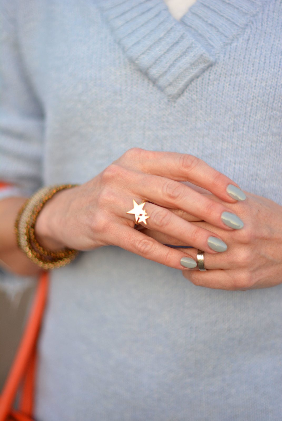 Spring style: Double gold stars ring by Lizzy O | Not Dressed As Lamb