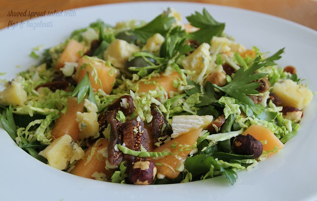 Shaved Sprout Salad with Figs & Hazelnuts 2