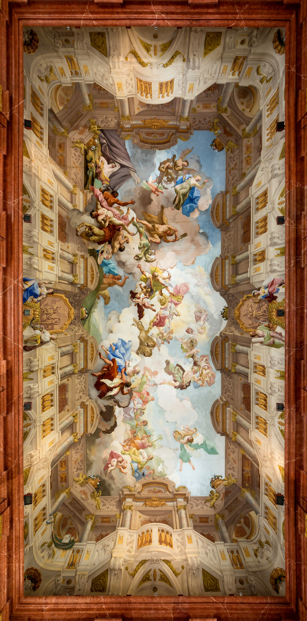 Ceiling fresco in the Marble Hall of Melk Abbey by Paul Troger, 1730. Credit Uoaei1