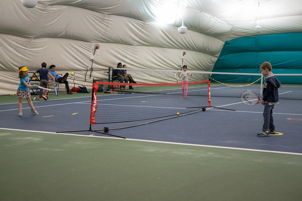 Tennis lessons continue