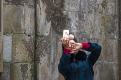 Photographing with the cellphone at the Castle