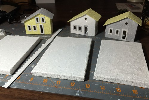 grey and yellow Putz houses