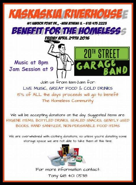 Homeless Benefit 4-29-16