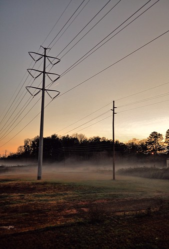mist tower grass misty fog sunrise ga georgia clayton meadow line dew electrical jonesboro
