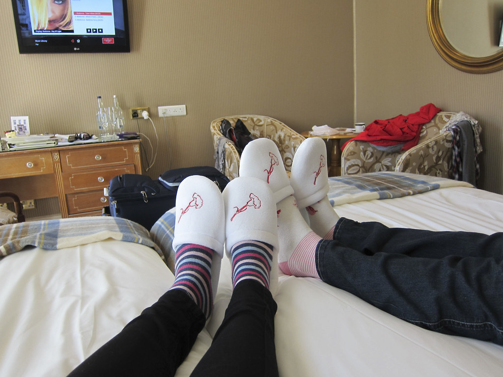 Feet up at Old Government House Hotel, Guernsey